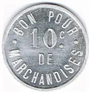 10 Centimes - Ruffec Charente – reverse