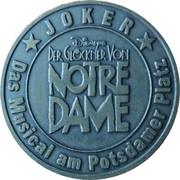 Token - Notre Dame free drink Joker – obverse