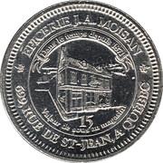 15 Sous - Nouvelle-France-Épicerie J. A. Moisan (Québec, Québec) – reverse