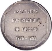 Token - 6th International Meetings in Monaco (Numismatic Association of Monaco) – reverse