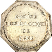 Token - Archeological society of Sens – reverse