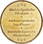 Kocher-Jagst Taler - Marien Apotheke & Schloss Apotheke & Morstein Apotheke (Dörzbach, Ingelfingen, Niedernhall) – obverse
