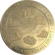 Token - Nebraska Centennial (Nemaha County) – obverse