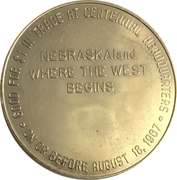 Token - Nebraska Centennial (Nemaha County) – reverse