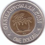 1 Dollar Car Wash Token - Oasis – obverse