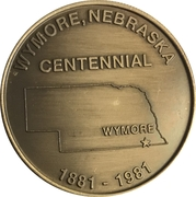 Token - Centennial Wymore, Nebraska – reverse
