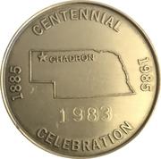 Token - Centennial Chadron, Nebraska – reverse