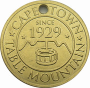 Token - Cape Town (Table Mountain) – reverse