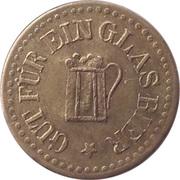 """1 Glas Bier (Countermarked """"M"""") – obverse"""