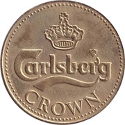 Beer Token - Carlsberg Crown – reverse
