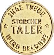 Storchen Taler - Storchen Apotheke – reverse