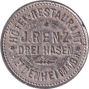 1 Glas Bier - J.Renz - Drei Hasen (Heidenheim an der Brenz) – obverse