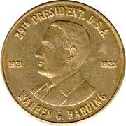 Token - Warren G. Harding (29th President) – obverse