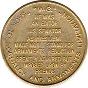 Token - Warren G. Harding (29th President) – reverse