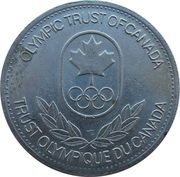 Token - Olympic Trust of Canada (Cycling) – reverse