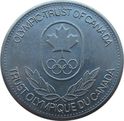Token - Olympic Trust of Canada (Wrestling) – reverse
