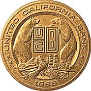 Token - United California Bank Napa Office – obverse