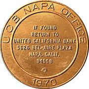 Token - United California Bank Napa Office – reverse