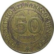 50 Cent - Burmann Penning (1884-1934) – reverse