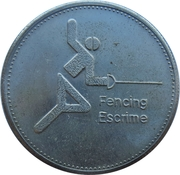 Token - Olympic Trust of Canada (Fencing) – obverse