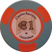 1 Euro - Casino Barriere (Ouistreham) – obverse