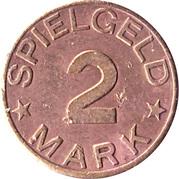 2 Mark (Spielgeld) – reverse