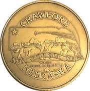 Token - Centennial Crawford, Nebraska – obverse