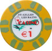 1 Euro - Casino St-Gilles les Bains – obverse