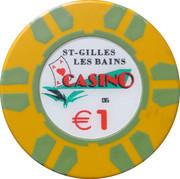 1 Euro - Casino St-Gilles les Bains – reverse