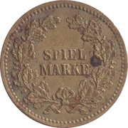 Spiel Marke (Wilhelm I) – reverse