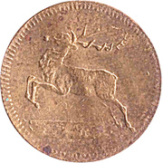 Spiel Marke (Deer and Bull) – obverse