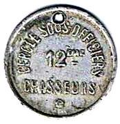 5 Centimes - Cercle sous-officiers 12ème Chasseurs – obverse