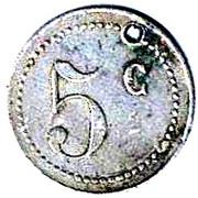 5 Centimes - Cercle sous-officiers 12ème Chasseurs – reverse