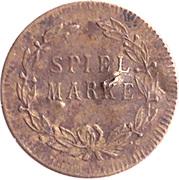 Spiel Marke (Caduceus; 17.4 mm) – reverse
