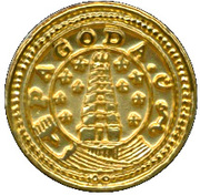 Replica - Indian Gold Pagoda 1808-1815 – reverse