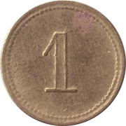 1 Penny - Clown – reverse
