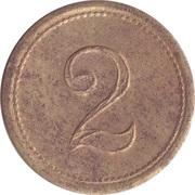 Token - 2 (circle radiating to edge) – obverse