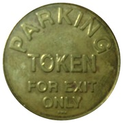 Parking Token - Holy Name Hospital (Teaneck, New Jersey) – reverse