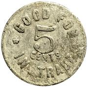 5 Cents - Gilt Edge Department Store – reverse