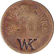 10 Pfennig (Werth-Marke; Brass; Countermarked on both sides) – obverse