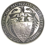 Coin-medal (1200 Years of German Coinage - 1778 Sterntaler) – reverse