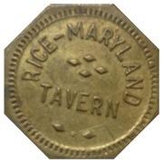 5 Cents - Rice Maryland Tavern – obverse
