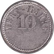 10 Pfennig (Wert-Marke; A.M.L.) – obverse