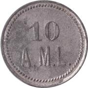 10 Pfennig (Wert-Marke; A.M.L.) – reverse