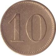 10 Pfennig (Werth-Marke; other font) – reverse