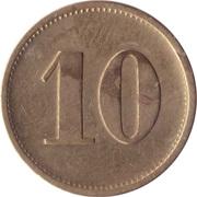 10 Pfennig (Werth-Marke; Brass; 5mm; Countermarked) – reverse
