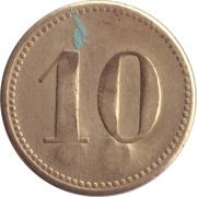 """10 Pfennig (Werth-Marke; Countermarked """"CH"""") – reverse"""
