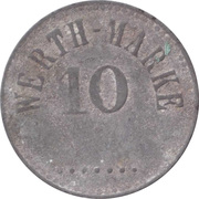 10 Pfennig (Werth-Marke; Zinc; line of dots; high font) – obverse
