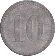 10 Pfennig (Werth-Marke; Zinc; line of dots; high font) – reverse