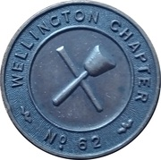 Masonic Token - Lodge Wellington 62 – obverse
